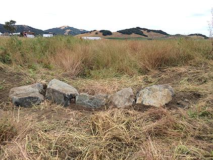 one rock check dam